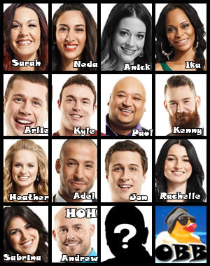 Big Brother Canada HOH Results